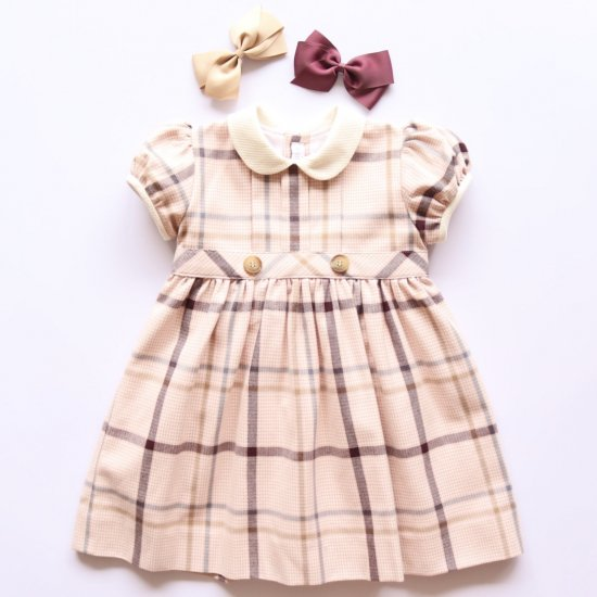 <img class='new_mark_img1' src='https://img.shop-pro.jp/img/new/icons20.gif' style='border:none;display:inline;margin:0px;padding:0px;width:auto;' />【40%OFF】Amaia Kids - Corneta dress アマイアキッズ - チェック柄ワンピース