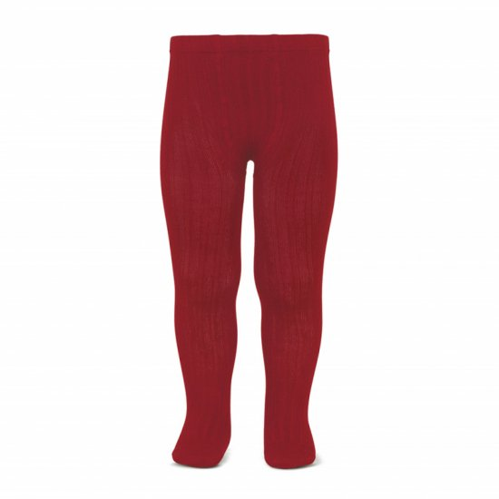 Amaia Kids - Ribbed tights - Cherry アマイアキッズ - タイツ