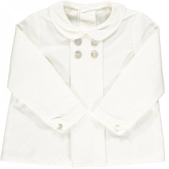 Amaia Kids - Thomas shirt - Off White アマイアキッズ - シャツ