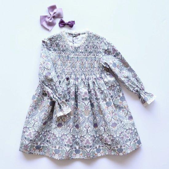 Amaia Kids - Laeticia dress - Liberty mauve アマイアキッズ - リバティプリントワンピース