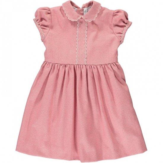 Amaia Kids - Eleonoire dress short sleeves - Pink アマイアキッズ - ワンピース