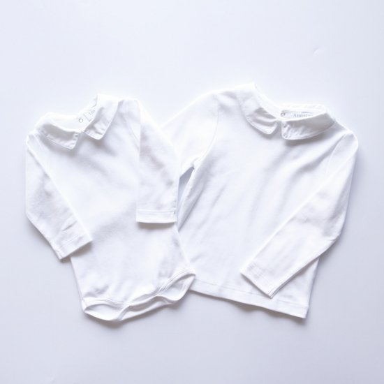 Amaia Kids - Mayfair longsleeve- White piping アマイアキッズ - 長袖トップス