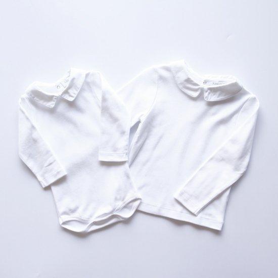 Amaia Kids - Mayfair longsleeve- White piping アマイアキッズ - 長袖トップス