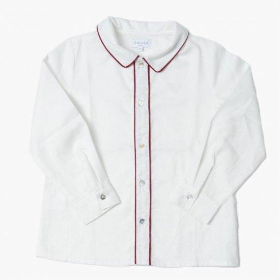 Amaia Kids - Daniel shirt long-sleeves - Burgundy アマイアキッズ - 長袖シャツ