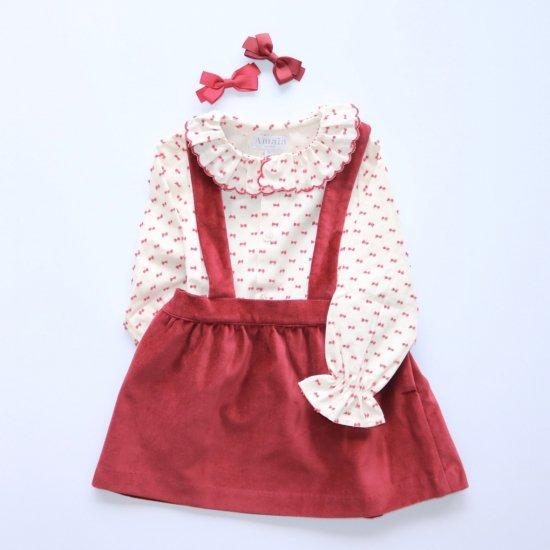Amaia Kids - Yarrow skirt - Red velvet アマイアキッズ - スカート