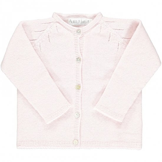 <img class='new_mark_img1' src='https://img.shop-pro.jp/img/new/icons14.gif' style='border:none;display:inline;margin:0px;padding:0px;width:auto;' />Amaia Kids - Puce cardigan - Pink アマイアキッズ - ウールカーディガン