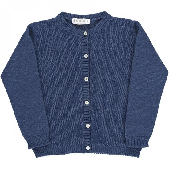 <img class='new_mark_img1' src='https://img.shop-pro.jp/img/new/icons14.gif' style='border:none;display:inline;margin:0px;padding:0px;width:auto;' />Amaia Kids - Moana cardigan - Blue アマイアキッズ - ウールカーディガン