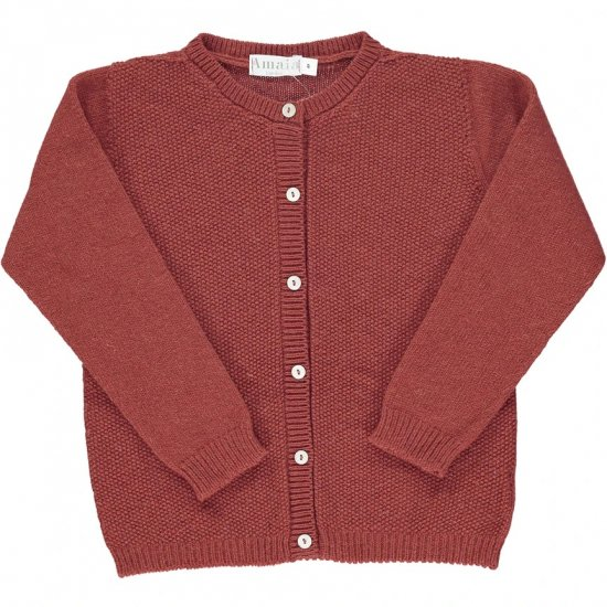 <img class='new_mark_img1' src='https://img.shop-pro.jp/img/new/icons14.gif' style='border:none;display:inline;margin:0px;padding:0px;width:auto;' />Amaia Kids - Moana cardigan - Rust アマイアキッズ - ウールカーディガン