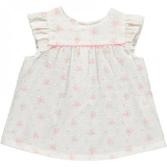 <img class='new_mark_img1' src='https://img.shop-pro.jp/img/new/icons14.gif' style='border:none;display:inline;margin:0px;padding:0px;width:auto;' />Amaia Kids - Lise girl top - Mini flower アマイアキッズ - 花柄ブラウス
