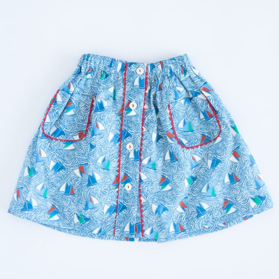 <img class='new_mark_img1' src='https://img.shop-pro.jp/img/new/icons14.gif' style='border:none;display:inline;margin:0px;padding:0px;width:auto;' />Amaia Kids - Juliette skirt - Liberty blue アマイアキッズ - リバティプリントマリン柄スカート