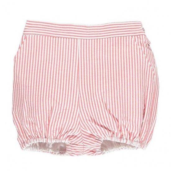 Amaia Kids - Magpie bloomer - Red striped seersucker アマイアキッズ - ブルマ