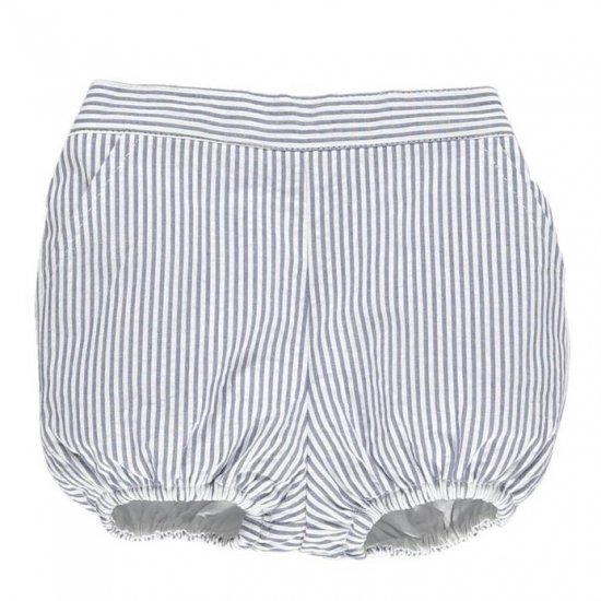 <img class='new_mark_img1' src='https://img.shop-pro.jp/img/new/icons14.gif' style='border:none;display:inline;margin:0px;padding:0px;width:auto;' />Amaia Kids - Magpie bloomer - Navy striped seersucker アマイアキッズ - ブルマ