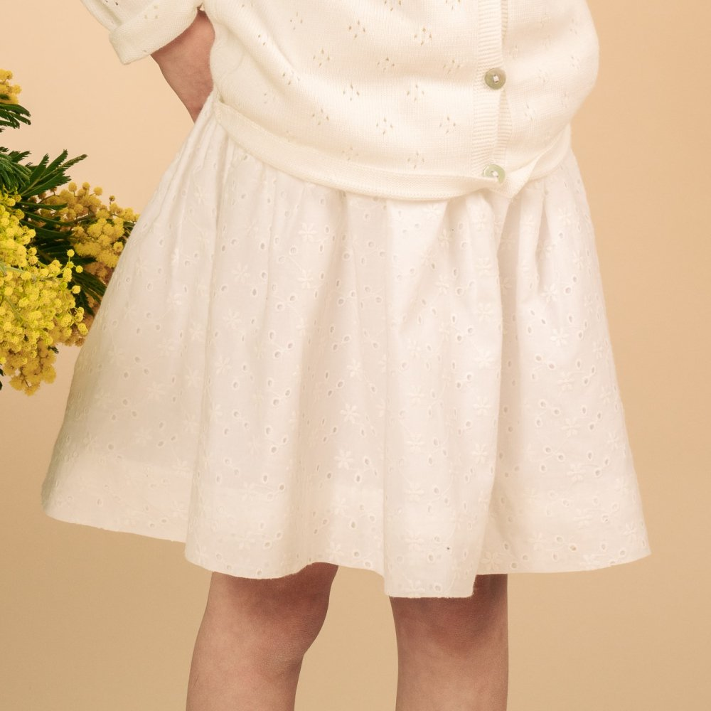 Amaia Kids - Hossegor skirt アマイアキッズ - コットンレーススカート