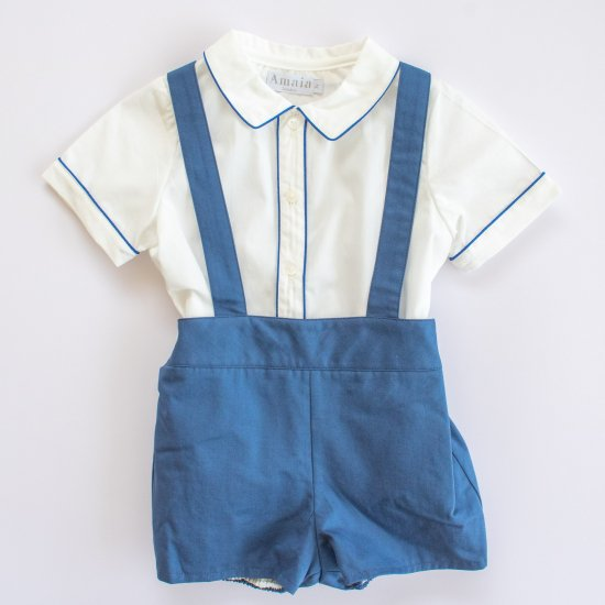 <img class='new_mark_img1' src='https://img.shop-pro.jp/img/new/icons14.gif' style='border:none;display:inline;margin:0px;padding:0px;width:auto;' />Amaia Kids - Spinach shorts - Blue アマイアキッズ - パンツ