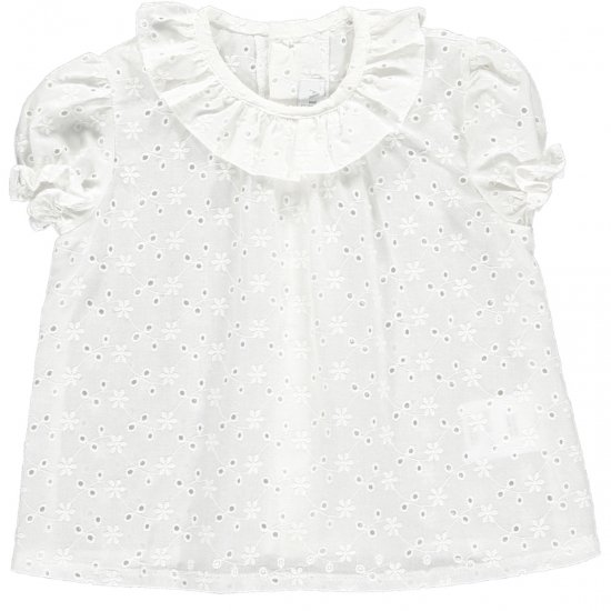<img class='new_mark_img1' src='https://img.shop-pro.jp/img/new/icons14.gif' style='border:none;display:inline;margin:0px;padding:0px;width:auto;' />Amaia Kids - Lety baby top アマイアキッズ - コットンレースブラウス