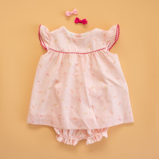 <img class='new_mark_img1' src='https://img.shop-pro.jp/img/new/icons14.gif' style='border:none;display:inline;margin:0px;padding:0px;width:auto;' />Amaia Kids - Angelina set - Pink lullaby アマイアキッズ - セットアップ
