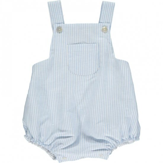 <img class='new_mark_img1' src='https://img.shop-pro.jp/img/new/icons14.gif' style='border:none;display:inline;margin:0px;padding:0px;width:auto;' />Amaia Kids - Archie romper - Light blue stirpe アマイアキッズ - サロペット