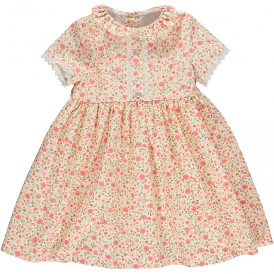 <img class='new_mark_img1' src='https://img.shop-pro.jp/img/new/icons14.gif' style='border:none;display:inline;margin:0px;padding:0px;width:auto;' />Amaia Kids - Bristol dress - Pink floral アマイアキッズ - 花柄ワンピース
