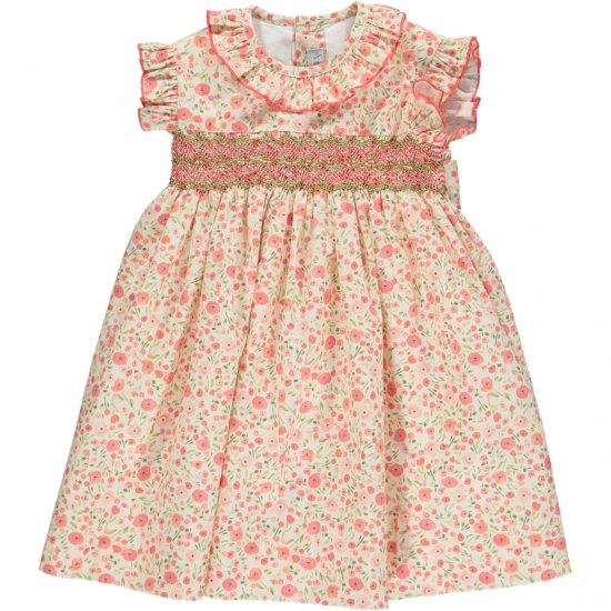 <img class='new_mark_img1' src='https://img.shop-pro.jp/img/new/icons14.gif' style='border:none;display:inline;margin:0px;padding:0px;width:auto;' />Amaia Kids - Carnac dress - Pink floral アマイアキッズ - 花柄ワンピース