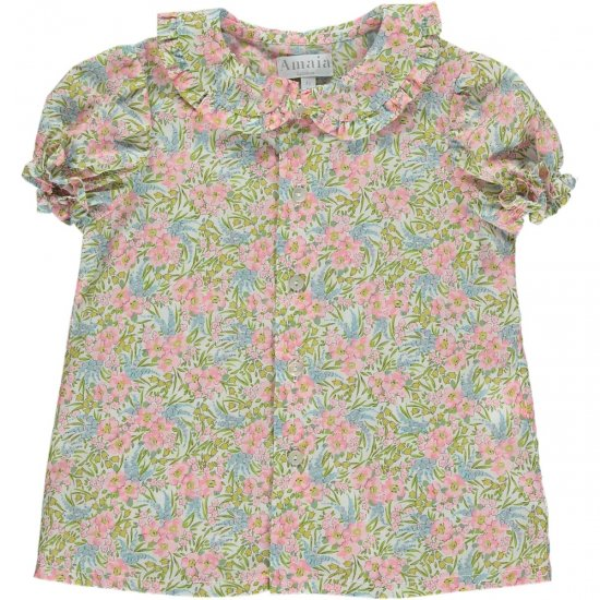 <img class='new_mark_img1' src='https://img.shop-pro.jp/img/new/icons14.gif' style='border:none;display:inline;margin:0px;padding:0px;width:auto;' />Amaia Kids - Gaya top - Liberty floral アマイアキッズ - リバティプリントブラウス