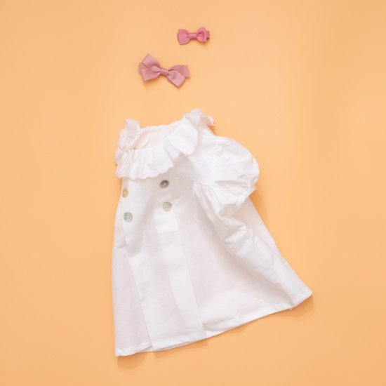 <img class='new_mark_img1' src='https://img.shop-pro.jp/img/new/icons14.gif' style='border:none;display:inline;margin:0px;padding:0px;width:auto;' />Amaia Kids - Eden baby top - Light pink piping アマイアキッズ - ブラウス