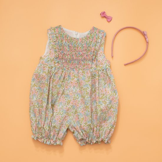 <img class='new_mark_img1' src='https://img.shop-pro.jp/img/new/icons14.gif' style='border:none;display:inline;margin:0px;padding:0px;width:auto;' />Amaia Kids - Rose all in one - Liberty floral アマイアキッズ - リバティプリントサロペット