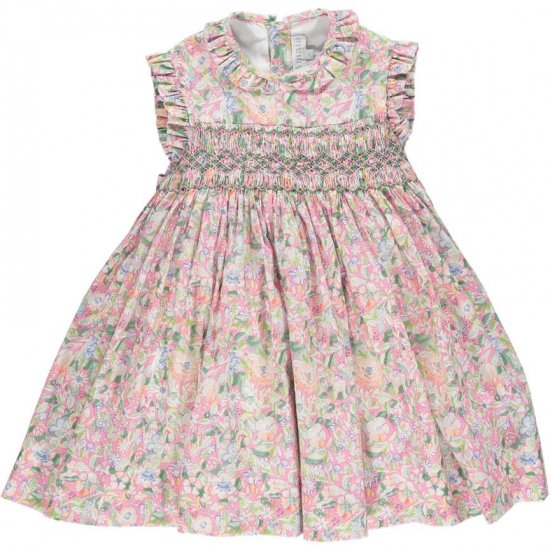 <img class='new_mark_img1' src='https://img.shop-pro.jp/img/new/icons14.gif' style='border:none;display:inline;margin:0px;padding:0px;width:auto;' />Amaia Kids - Salome dress - Pink アマイアキッズ - 花柄ワンピース