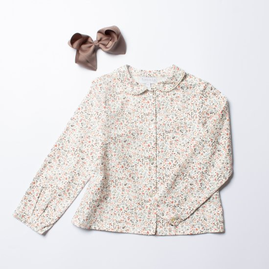<img class='new_mark_img1' src='https://img.shop-pro.jp/img/new/icons14.gif' style='border:none;display:inline;margin:0px;padding:0px;width:auto;' />Amaia Kids - Coline blouse - Creamy floral アマイアキッズ - 小花柄ブラウス