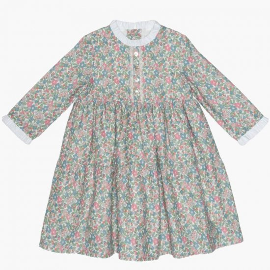 <img class='new_mark_img1' src='https://img.shop-pro.jp/img/new/icons14.gif' style='border:none;display:inline;margin:0px;padding:0px;width:auto;' />Amaia Kids - Ary dress - Liberty Pink/Green アマイアキッズ - リバティプリントワンピース