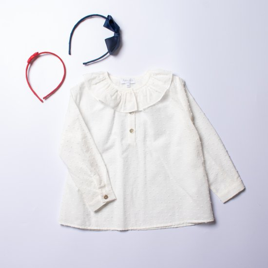 <img class='new_mark_img1' src='https://img.shop-pro.jp/img/new/icons14.gif' style='border:none;display:inline;margin:0px;padding:0px;width:auto;' />Amaia Kids - Champs-elysees blouse - Plumetti アマイアキッズ - ブラウス