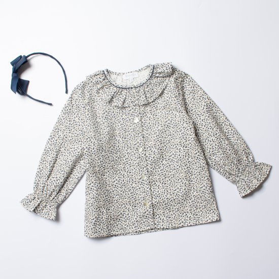 <img class='new_mark_img1' src='https://img.shop-pro.jp/img/new/icons14.gif' style='border:none;display:inline;margin:0px;padding:0px;width:auto;' />Amaia Kids - Gloria blouse - Navy cherry アマイアキッズ- チェリー柄ブラウス