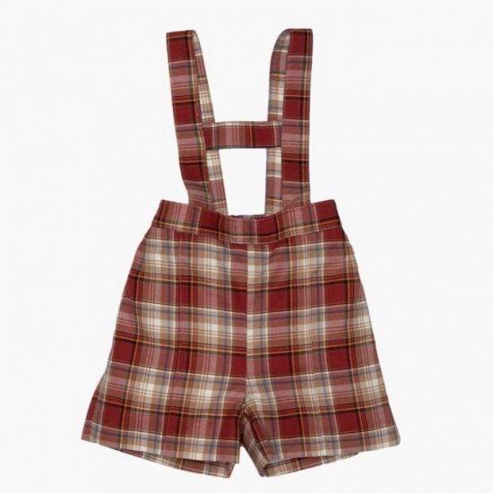 <img class='new_mark_img1' src='https://img.shop-pro.jp/img/new/icons14.gif' style='border:none;display:inline;margin:0px;padding:0px;width:auto;' />Amaia Kids - Pablo boy shorts - Rust tartan アマイアキッズ - チェック柄パンツ