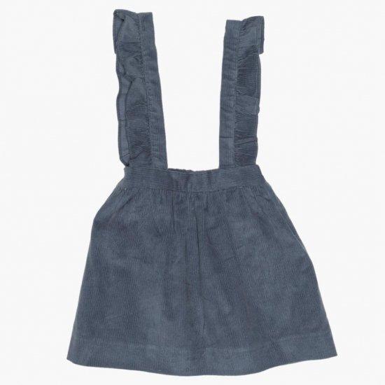 <img class='new_mark_img1' src='https://img.shop-pro.jp/img/new/icons14.gif' style='border:none;display:inline;margin:0px;padding:0px;width:auto;' />Amaia Kids - Mai skirt - Grey blue アマイアキッズ - コーデュロイスカート