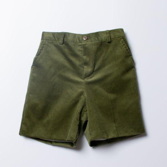<img class='new_mark_img1' src='https://img.shop-pro.jp/img/new/icons14.gif' style='border:none;display:inline;margin:0px;padding:0px;width:auto;' />Amaia Kids - Gull shorts - Olive アマイアキッズ -コーデュロイパンツ