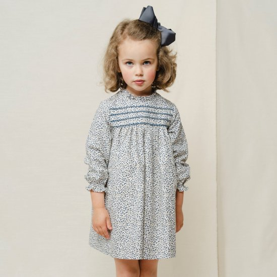 <img class='new_mark_img1' src='https://img.shop-pro.jp/img/new/icons14.gif' style='border:none;display:inline;margin:0px;padding:0px;width:auto;' />Amaia Kids - Villa dress - Navy cherry アマイアキッズ - チェリー柄ワンピース