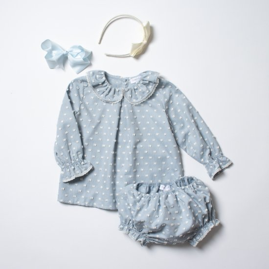 <img class='new_mark_img1' src='https://img.shop-pro.jp/img/new/icons14.gif' style='border:none;display:inline;margin:0px;padding:0px;width:auto;' />Amaia Kids - Lanette set - Sky blue アマイアキッズ - ベビーセットアップ