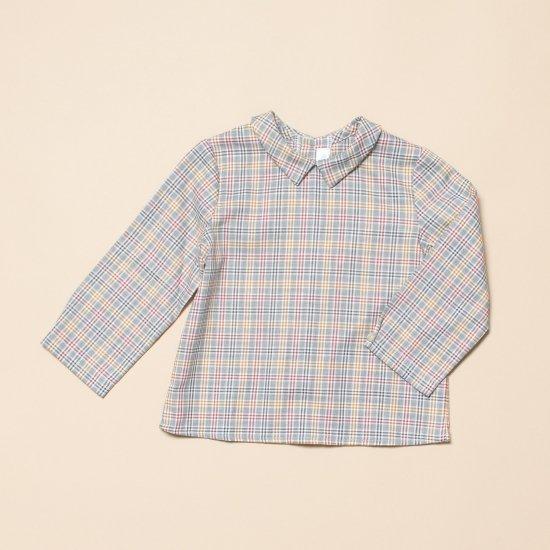 <img class='new_mark_img1' src='https://img.shop-pro.jp/img/new/icons14.gif' style='border:none;display:inline;margin:0px;padding:0px;width:auto;' />Amaia Kids - Mallard shirt - Grey tartan アマイアキッズ - チェック柄長袖シャツ