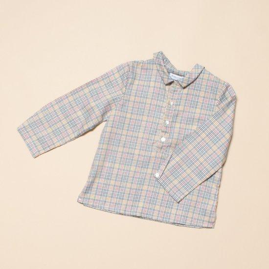 <img class='new_mark_img1' src='https://img.shop-pro.jp/img/new/icons14.gif' style='border:none;display:inline;margin:0px;padding:0px;width:auto;' />Amaia Kids - Oliver shirt - Grey tartan アマイアキッズ - チェック柄長袖シャツ