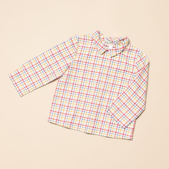 <img class='new_mark_img1' src='https://img.shop-pro.jp/img/new/icons14.gif' style='border:none;display:inline;margin:0px;padding:0px;width:auto;' />Amaia Kids - Mallard shirt - Mustard/Red アマイアキッズ - チェック柄長袖シャツ