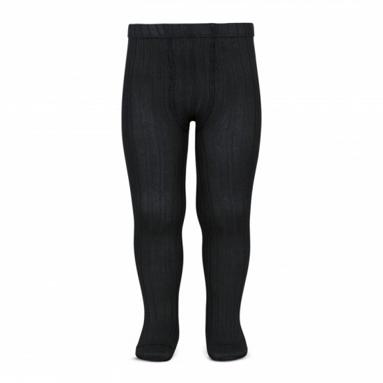<img class='new_mark_img1' src='https://img.shop-pro.jp/img/new/icons14.gif' style='border:none;display:inline;margin:0px;padding:0px;width:auto;' />Amaia Kids - Ribbed tights - Black アマイアキッズ - タイツ