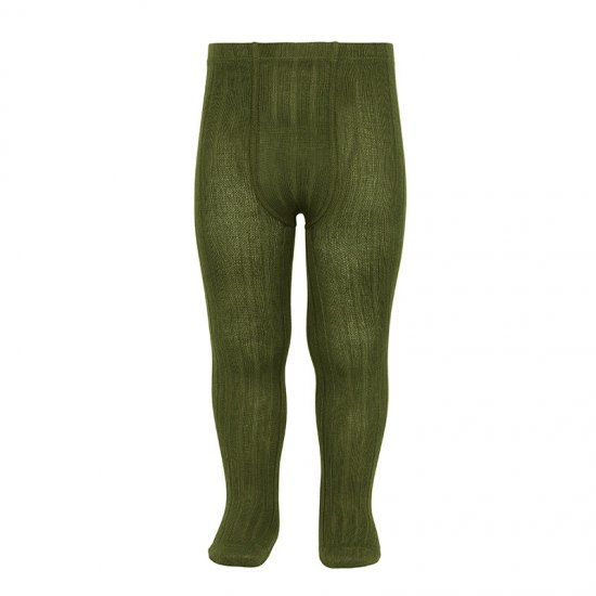 <img class='new_mark_img1' src='https://img.shop-pro.jp/img/new/icons14.gif' style='border:none;display:inline;margin:0px;padding:0px;width:auto;' />Amaia Kids - Ribbed tights - Green Algae アマイアキッズ - タイツ