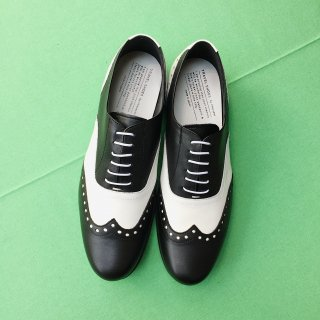 TRAVELSHOES by chausser <br>MEN'S TR-004M BLK×WHTコンビ<br>(ground別注)