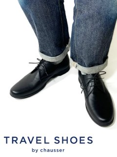TRAVEL SHOES by chausser <br>NEN'S TR-008M BLK