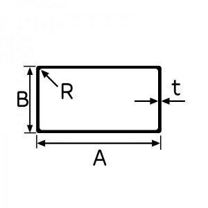 パイプ 長方形 角
