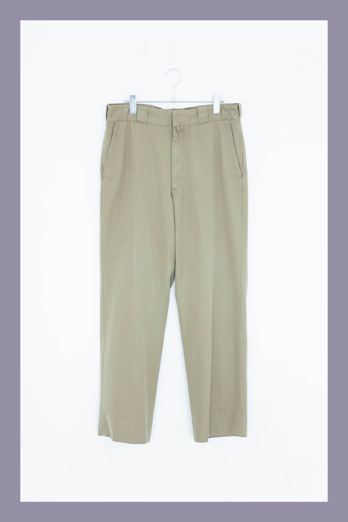 COMOLI / COTTON GABBER WASH PANTS