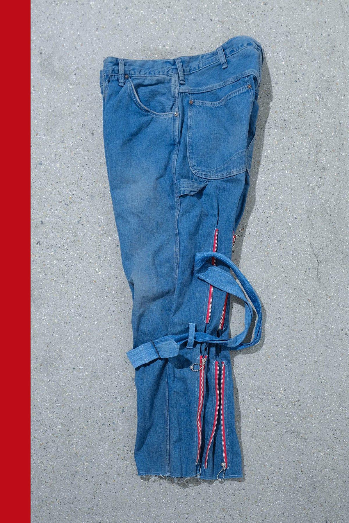 orslow × ink / BONDAGE PANTS(RED ZIP)