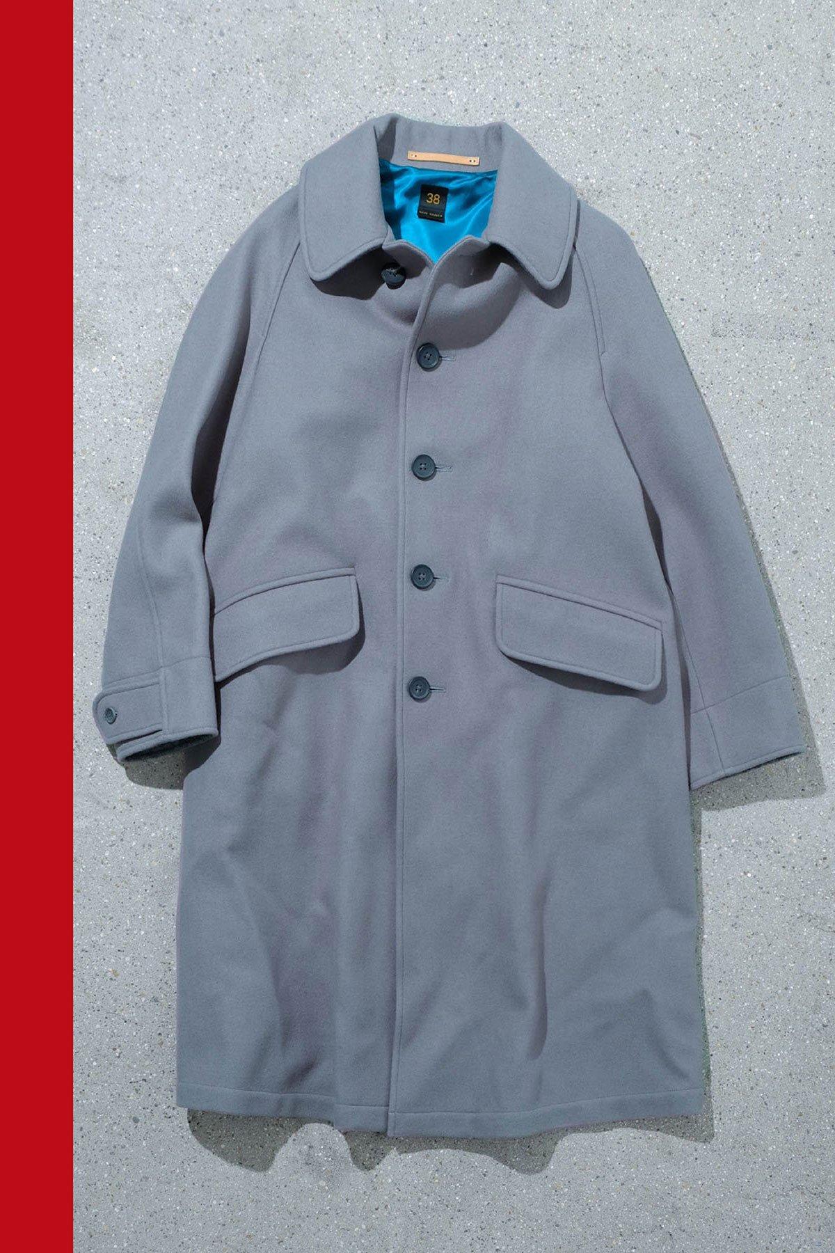 Scye / Wool Cashmere Melton Overcoat