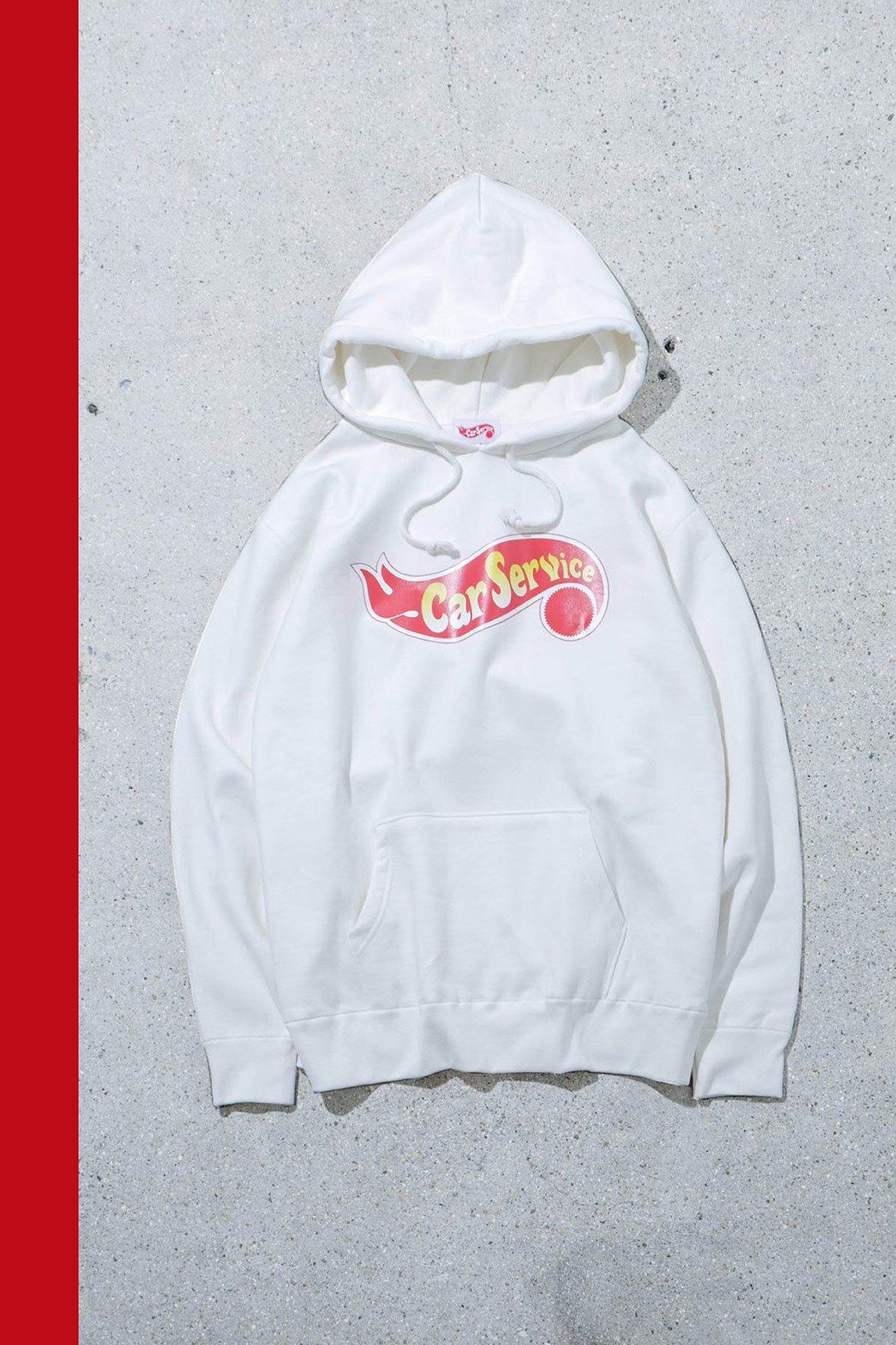Carservice / Logo Hoodie WHITE