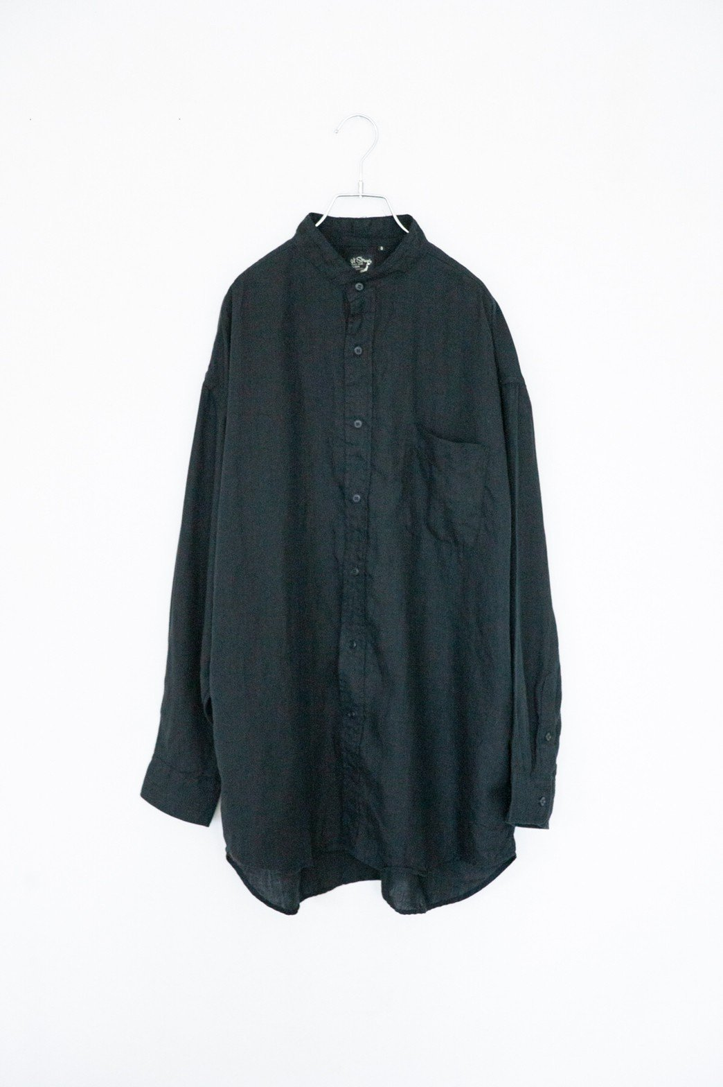 orslow / LOOSE FIT STAND VOLLAR SHIRT BLACK