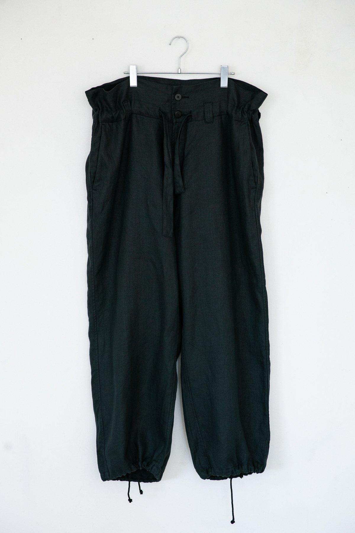 whowhat / HIGHT-WAIST PANTS GREEN BLACK